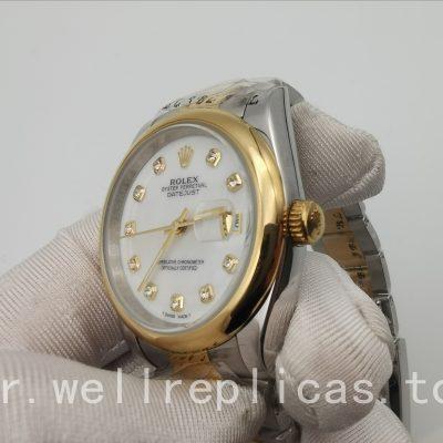 Rolex Datejust 116203 Cadran Blanc En Acier Inoxydable Massif