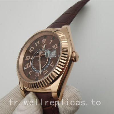 Coque Homme Rolex Sky-dweller 326135 42 Mm Or Everose