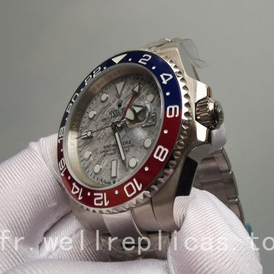 Rolex Gmt-master Ii Dial Meteorite Sapphire Or Blanc