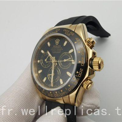 Rolex Daytona 116518ln 002 Hommes Cadran Noir Or Jaune 18 Carats