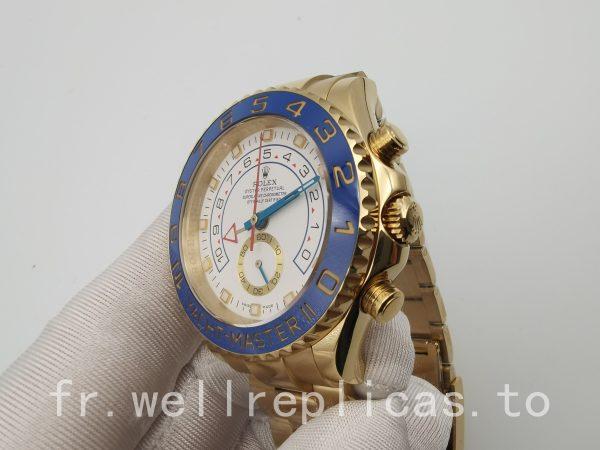 Rolex Yacht-master 116688 Cadran Homme Blanc 18k Plaqué Or Jaune