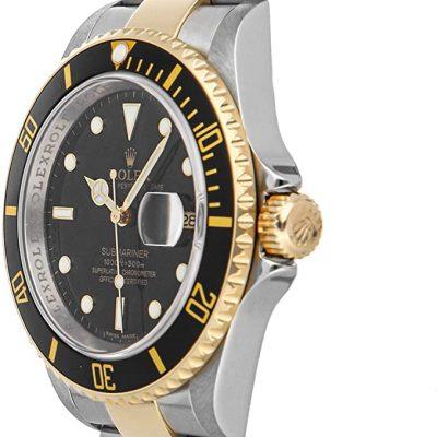 Rolex Submariner 16613 Montre à cadran noir 40 mm avec bracelet en or