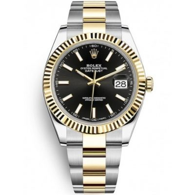 Rolex Datejust 126333 Montre homme 41 mm en or jaune 18 carats