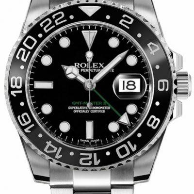 Rolex GMT-Master II 116710LN Montre homme noire 40 mm en acier