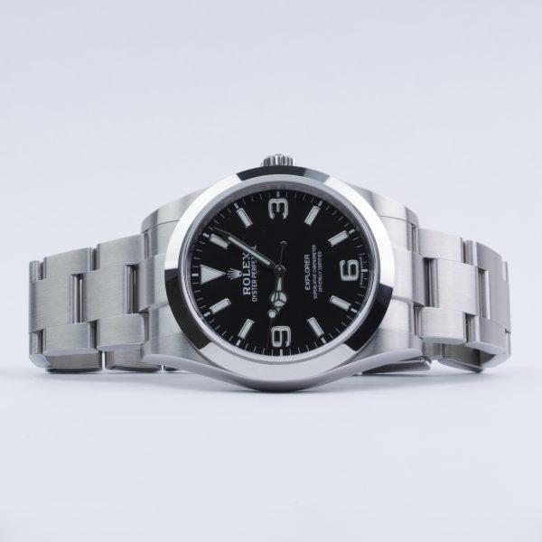 Rolex Explorer 214270 Montre homme 39 mm à cadran noir en acier