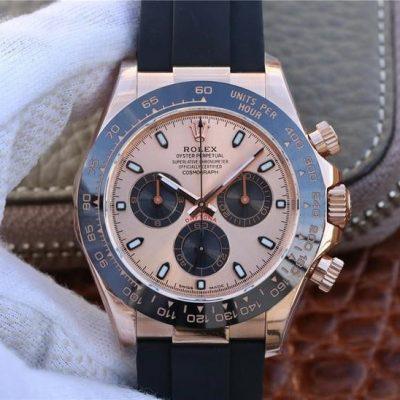 Rolex Daytona 116515ln Replica Montre homme en or rose 40 mm