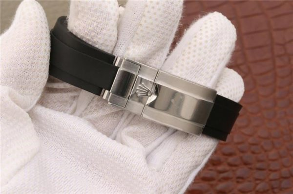 Rolex Daytona 116519ln Montre en caoutchouc unisexe à cadran noir 40 mm